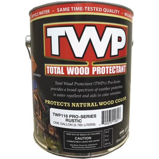 TWP100 Pro Series Semi-Transparent Wood Protectant Deck Stain, Rustic, 1 Gal.