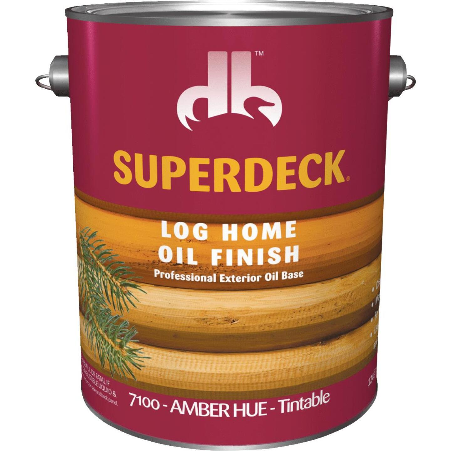 Duckback SUPERDECK Translucent Log Home Oil Finish, Amber Hue, 1 Gal. Image 1