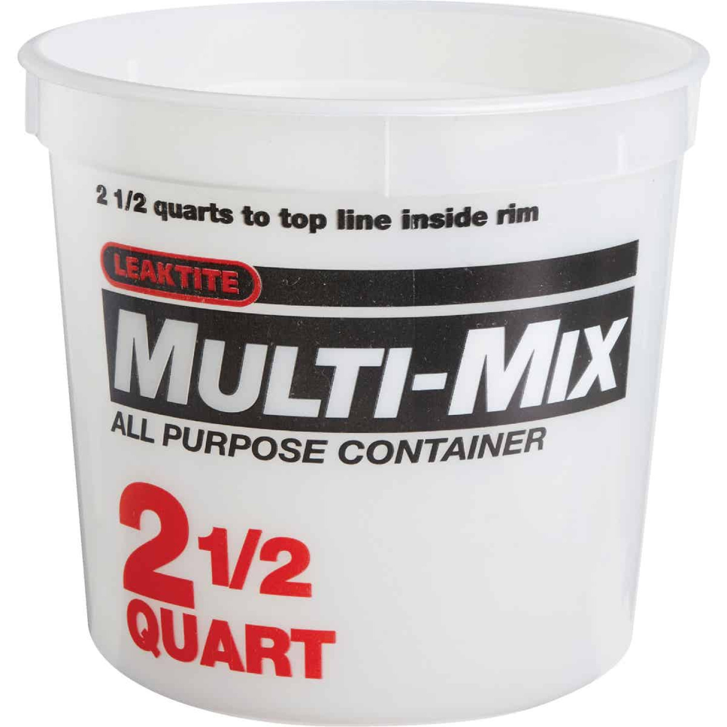 Leaktite 2-1/2 Qt. Multi-Mix All Purpose Mixing And Storage Container Image 1