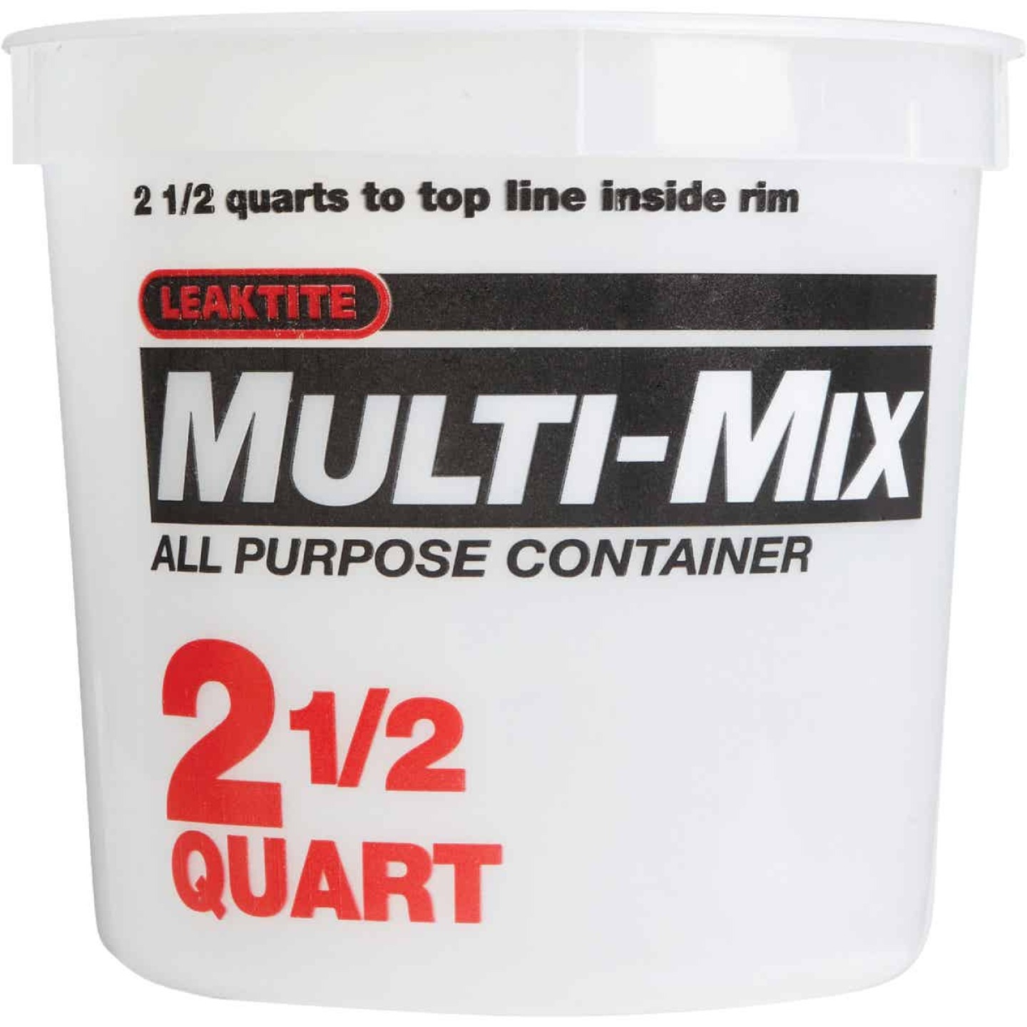 Leaktite 2-1/2 Qt. Multi-Mix All Purpose Mixing And Storage Container Image 2