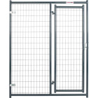 Tarter 5 Ft. W. x 6 Ft. H. Black Steel & Mesh Wire Outdoor Dog Kennel Gate Image 1