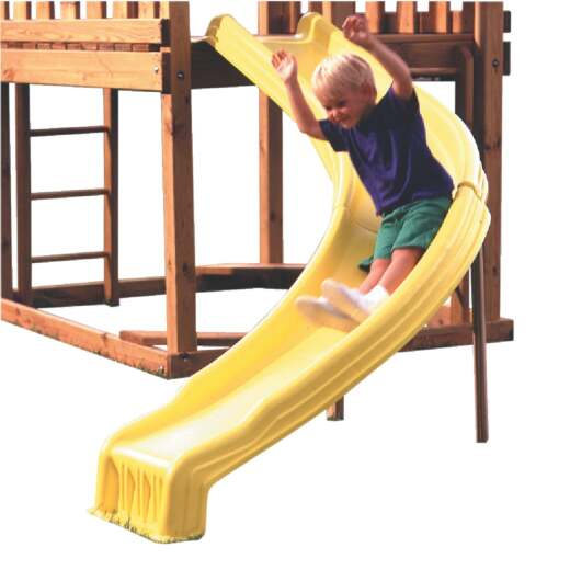 Swing N Slide 9-1/2 Ft. L. Yellow Plastic Side Winder Slide