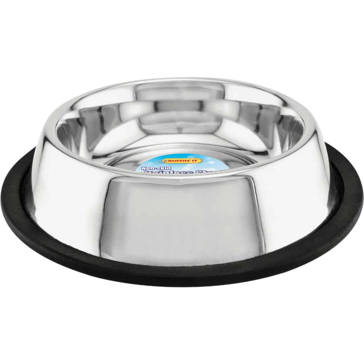 Westminster Pet Ruffin' it Stainless Steel Round 16 Oz. Non-Skid Pet Food Bowl Image 1