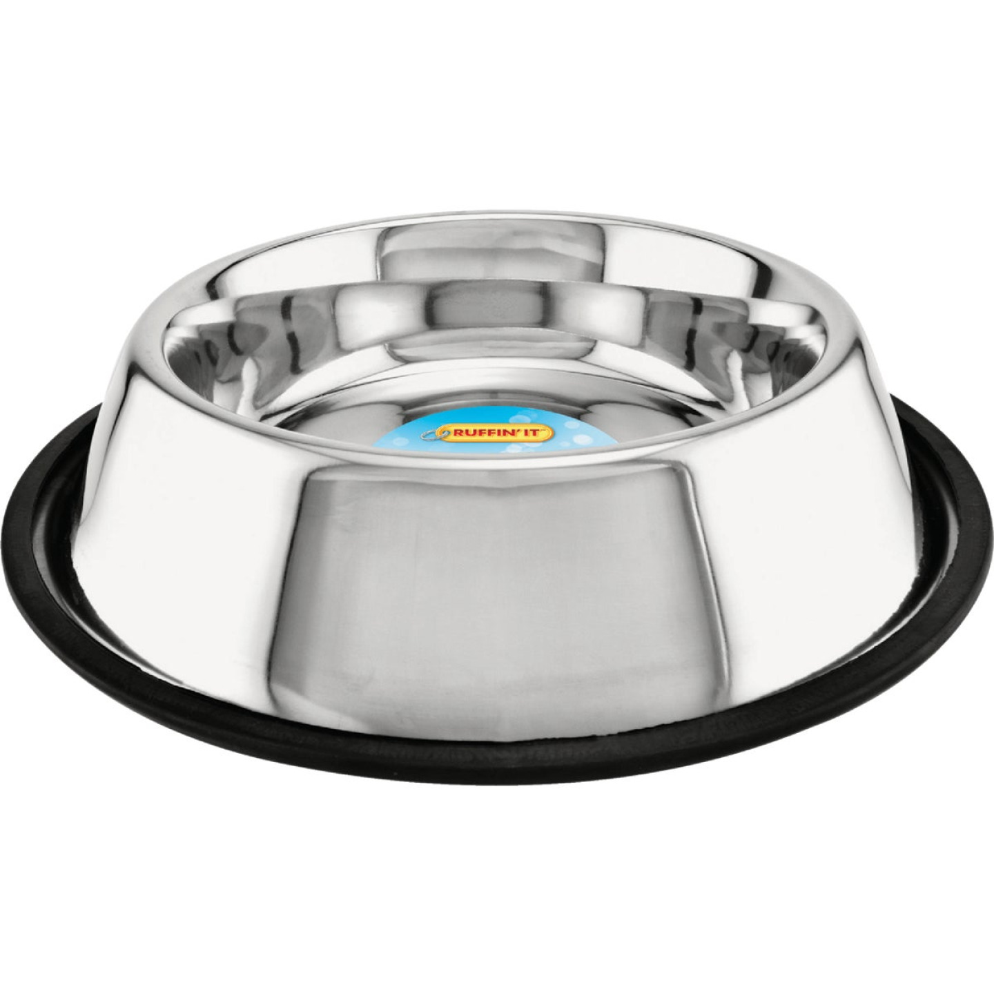 Westminster Pet Ruffin' it Stainless Steel Round 32 Oz. Non-Skid Pet Food Bowl Image 1