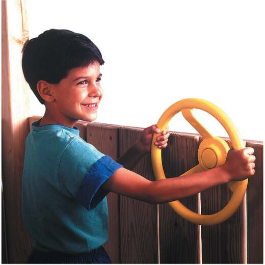 Swing N Slide 12 In. Dia. Yellow Playground Steering Wheel