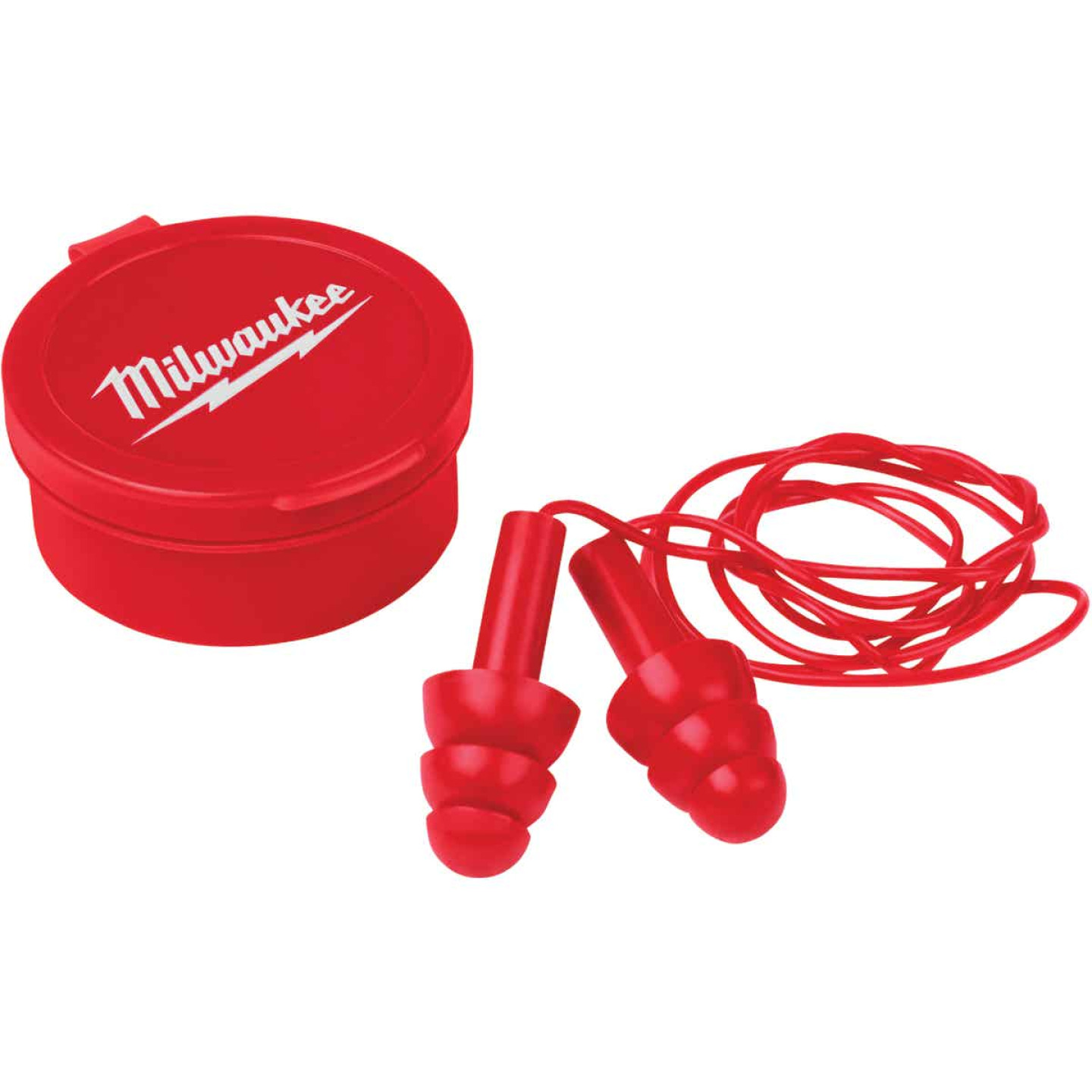Milwaukee Silicone 26 dB Corded Ear Plugs (3-Pair) Image 1