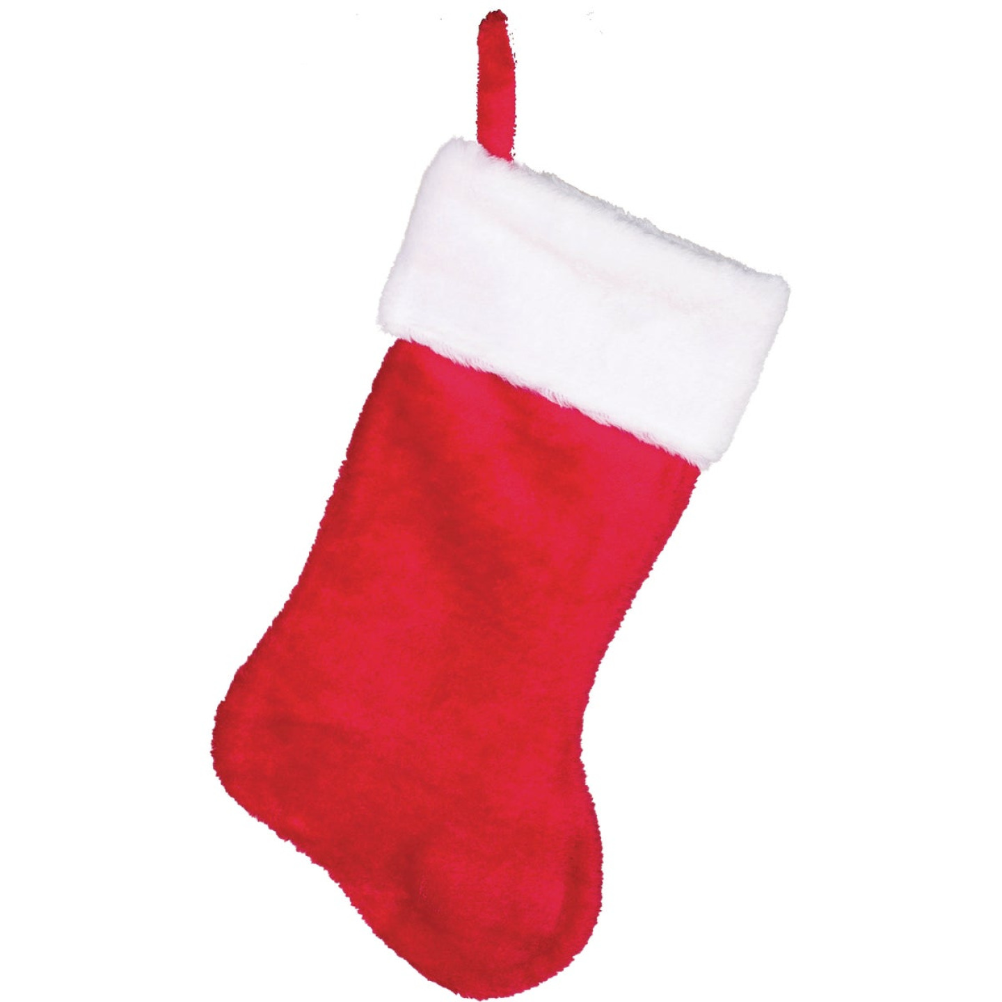 Gerson 17 In. Plush Red Stocking Image 1