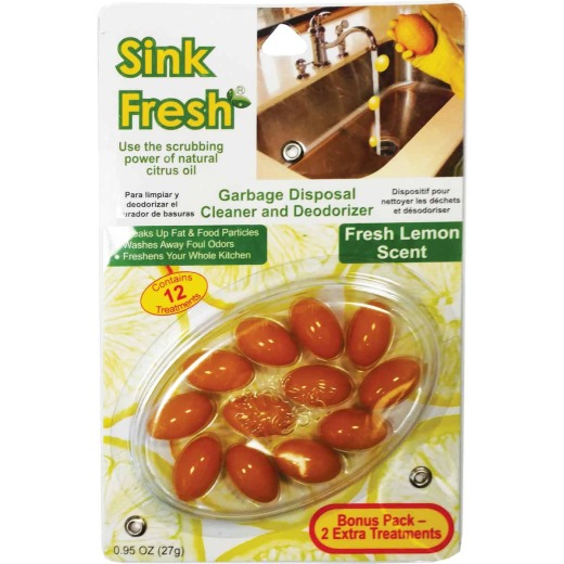 Sink Fresh Garbage Disposer Cleaner & Deodorizer (12-Pack)