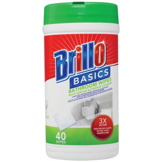 Brillo Basics Unscented Multi Surface Bathroom Wipes (40-Count)