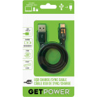 GetPower 3 Ft. Black USB-C to USB-A Charge/Sync Cable Image 1